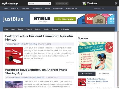 WordPress無料テーマ:JustBlue