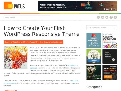 WordPress無料テーマ:Patus