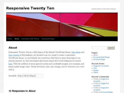WordPress無料テーマ:ResponsiveTwentyTen