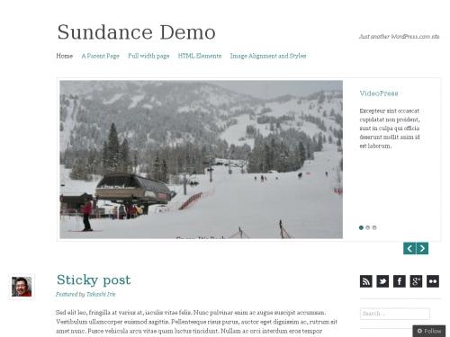 WordPress無料テーマ:Sundance