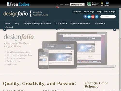 WordPress無料テーマ:Designfolio