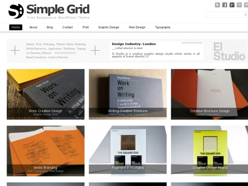 WordPress無料テーマ:Simple Grid