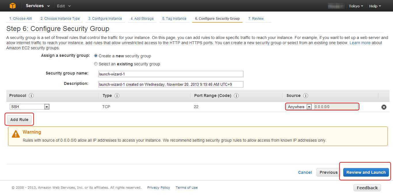 Amazon EC2 Security Group