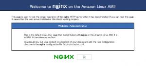 Nginxデフォルトページ