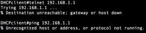 pingとtelnetの結果表示